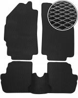 Коврики в салон для Chevrolet Spark '11-, EVA-полимерные, черные (Kinetic)