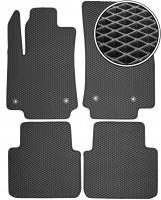 Коврики в салон для Citroen C3 Aircross '17-, EVA-полимерные, черные (Kinetic)