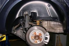 Подкрылок задний левый для Opel Astra H '07-15, седан (Novline)
