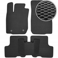 Коврики в салон для Dacia Logan '04-12, EVA-полимерные, черные (Kinetic)