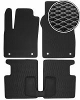 Коврики в салон для Fiat 500 '08-, EVA-полимерные, черные (Kinetic)