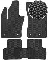 Коврики в салон для Fiat 500X '14-, EVA-полимерные, черные (Kinetic)