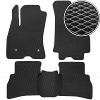 Коврики в салон для Fiat Doblo '10-, EVA-полимерные, черные (Kinetic)