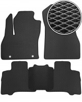Коврики в салон для Fiat Fiorino Qubo '08-, EVA-полимерные, черные (Kinetic)