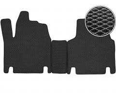 Коврики в салон передние для Fiat Scudo '00-06, EVA-полимерные, черные (Kinetic)