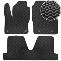 Коврики в салон для Ford Focus III '11-, EVA-полимерные, черные (Kinetic)