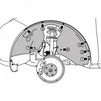 Фото 1 - Подкрылок передний левый для Mazda CX-7 2010 - 2012 (Novline)