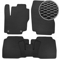 Коврики в салон для Ford Mondeo '07-14 (овальные клипсы), EVA-полимерные, черные (Kinetic)