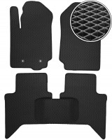 Коврики в салон для Ford Ranger '11-, EVA-полимерные, черные (Kinetic)