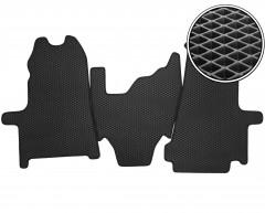 Коврики в салон передние для Ford Transit '06-13, EVA-полимерные, черные (Kinetic)