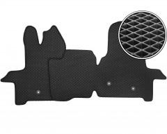 Коврики в салон передние для Ford Transit 2T '14-, EVA-полимерные, черные (Kinetic)