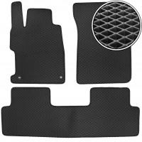 Коврики в салон для Honda Civic 4D '12-17, EVA-полимерные, черные (Kinetic)