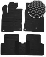 Коврики в салон для Honda Civic 4D '17-, EVA-полимерные, черные (Kinetic)