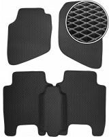 Коврики в салон для Honda Jazz '03-08, EVA-полимерные, черные (Kinetic)