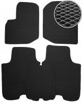 Коврики в салон для Honda Jazz '15-, EVA-полимерные, черные (Kinetic)