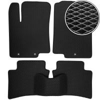 Коврики в салон для Hyundai Accent (Solaris) '11-17, EVA-полимерные, черные (Kinetic)