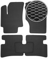 Коврики в салон для Hyundai Accent '06-10, EVA-полимерные, черные (Kinetic)