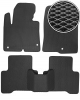 Коврики в салон для Hyundai Santa Fe '13-17 DM, EVA-полимерные, черные (Kinetic)