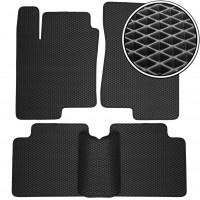Коврики в салон для Hyundai Sonata '05-10, EVA-полимерные, черные (Kinetic)