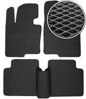 Коврики в салон для Hyundai Sonata '10-15, EVA-полимерные, черные (Kinetic)