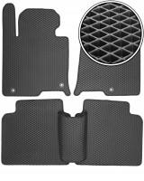 Коврики в салон для Hyundai Sonata '15-, EVA-полимерные, черные (Kinetic)