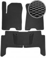 Коврики в салон для Infiniti QX80 '11-, EVA-полимерные, черные (Kinetic)