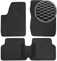 Коврики в салон для Kia Rio '00-05, EVA-полимерные, черные (Kinetic)