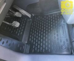 Фото 6 - Коврики в салон для Volkswagen Touran '03-15 полиуретановые, черные (Novline)