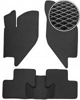 Коврики в салон для Lada (Ваз) Калина 1117-19 '04-13, EVA-полимерные, черные (Kinetic)
