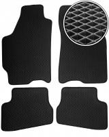 Коврики в салон для Mazda 626 '92-97 (GE), EVA-полимерные, черные (Kinetic)