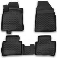 Коврики в салон для Nissan Tiida '05- полиуретановые, черные, NLC.36.21.210 (Novline / Element)