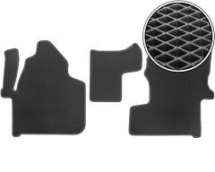 Коврики в салон передние для Mercedes Sprinter '06-, EVA-полимерные, черные (Kinetic)