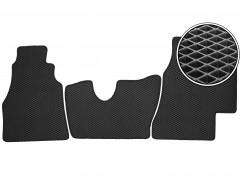 Коврики в салон передние для Mercedes Sprinter '95-06, КПП из пола, EVA-полимерные, черные (Kinetic)