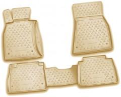 Коврики в салон для Lexus LS '06-17, 2WD, Short, полиуретановые, бежевые (Novline / Element)
