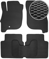Коврики в салон для Mitsubishi Galant '04-12, EVA-полимерные, черные (Kinetic)