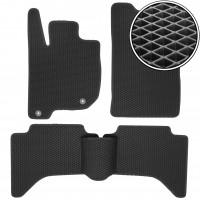 Коврики в салон для Mitsubishi Pajero Sport '08-16, EVA-полимерные, черные (Kinetic)