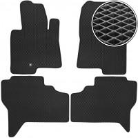 Коврики в салон для Mitsubishi Pajero Wagon 3 '00-07, EVA-полимерные, черные (Kinetic)