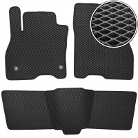 Коврики в салон для Nissan Leaf '10-17, EVA-полимерные, черные (Kinetic)