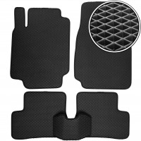 Коврики в салон для Nissan Micra '03-10, EVA-полимерные, черные (Kinetic)