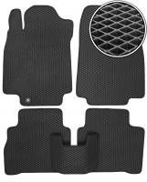 Коврики в салон для Nissan Tiida '05-14, EVA-полимерные, черные (Kinetic)