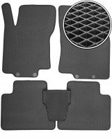 Коврики в салон для Nissan X-Trail (T32) '14-, EVA-полимерные, черные (Kinetic)