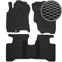 Коврики в салон для Nissan X-Trail '01-07, EVA-полимерные, черные (Kinetic)