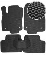 Коврики в салон для Opel Astra H '04-15 седан/универсал, EVA-полимерные, черные (Kinetic)