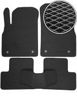 Коврики в салон для Opel Astra J '09-15, EVA-полимерные, черные (Kinetic)