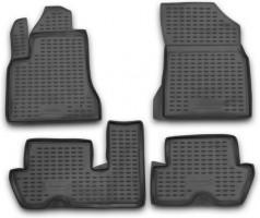 Коврики в салон для Citroen C4 Picasso '06-13 (2 ряда) полиуретановые, черные (Novline / Element)