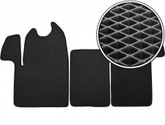 Коврики в салон для Opel Movano '11-, EVA-полимерные, черные (Kinetic)