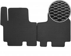 Коврики в салон передние для Opel Vivaro '01-14, EVA-полимерные, черные (Kinetic)