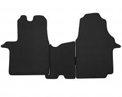 Фото 2 - Коврики в салон передние для Opel Vivaro '15-, EVA-полимерные, черные (Kinetic)