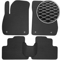 Коврики в салон для Opel Zafira C Tourer '12-, EVA-полимерные, черные (Kinetic)