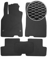 Коврики в салон для Renault Fluence '09-, EVA-полимерные, черные (Kinetic)